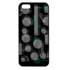 Come down - green Apple iPhone 5 Seamless Case (Black)
