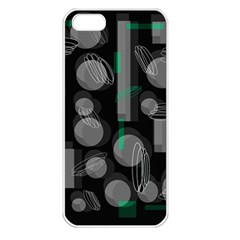 Come down - green Apple iPhone 5 Seamless Case (White)