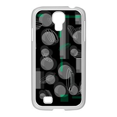 Come down - green Samsung GALAXY S4 I9500/ I9505 Case (White)