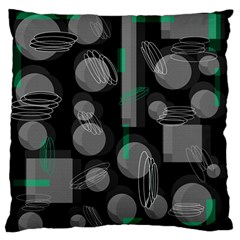 Come down - green Large Flano Cushion Case (One Side)