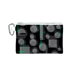 Come down - green Canvas Cosmetic Bag (S)