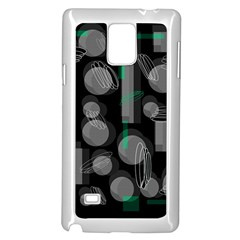 Come down - green Samsung Galaxy Note 4 Case (White)