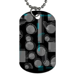 Come down - blue Dog Tag (One Side)