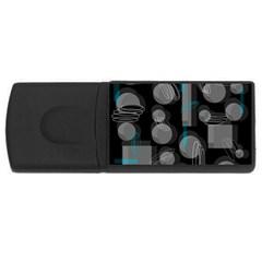 Come down - blue USB Flash Drive Rectangular (1 GB)