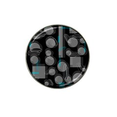 Come down - blue Hat Clip Ball Marker (10 pack)