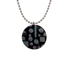 Come down - blue Button Necklaces