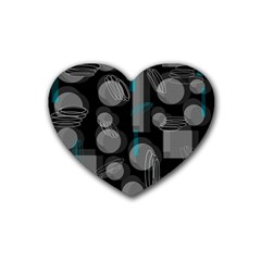Come down - blue Heart Coaster (4 pack)
