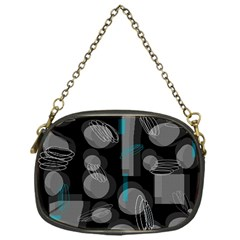 Come down - blue Chain Purses (One Side)