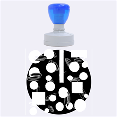 Come down - blue Rubber Round Stamps (Large)