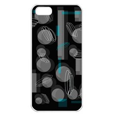 Come down - blue Apple iPhone 5 Seamless Case (White)
