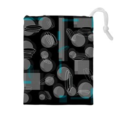 Come down - blue Drawstring Pouches (Extra Large)