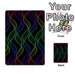 Rainbow Helix Black Multi-purpose Cards (Rectangle)  Back 3