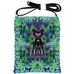 Lady Draccula With Flower Ghost And Love Shoulder Sling Bags