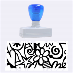 Abstract Doodle Rubber Stamps (large)
