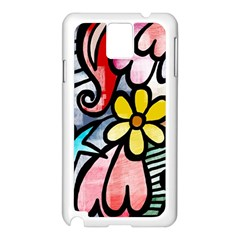 Abstract Doodle Samsung Galaxy Note 3 N9005 Case (white)