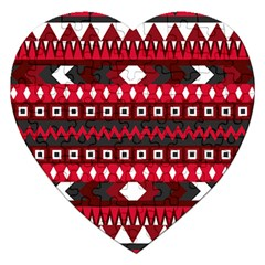 Asterey Red Pattern Jigsaw Puzzle (heart)