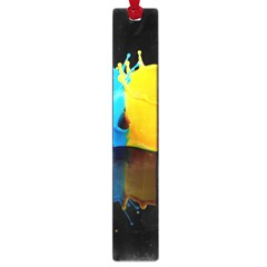Bicolor Paintink Drop Splash Reflection Blue Yellow Black Large Book Marks