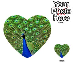 Bird Peacock Multi-purpose Cards (Heart)