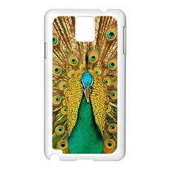 Bird Peacock Feathers Samsung Galaxy Note 3 N9005 Case (white)