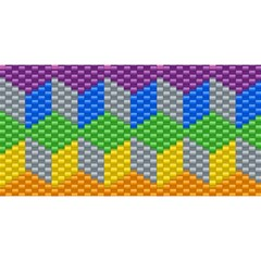 Block Pattern Kandi Pattern You Are Invited 3d Greeting Card (8x4)