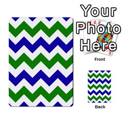 Blue And Green Chevron Pattern Multi Purpose Cards (rectangle)
