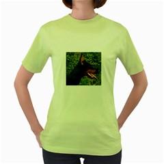 Doberman Pinscher Women s Green T-Shirt