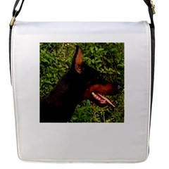Doberman Pinscher Flap Messenger Bag (S)