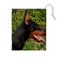 Doberman Pinscher Drawstring Pouches (Extra Large)