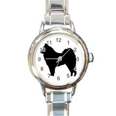 Eurasier Silo Black Round Italian Charm Watch