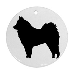 Eurasier Silo Black Ornament (Round)