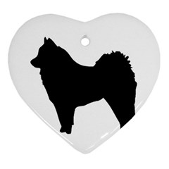 Eurasier Silo Black Ornament (Heart)