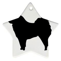 Eurasier Silo Black Ornament (Star)