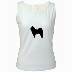 Eurasier Silo Black Women s White Tank Top