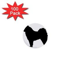 Eurasier Silo Black 1  Mini Buttons (100 pack)
