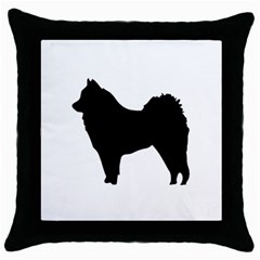 Eurasier Silo Black Throw Pillow Case (Black)