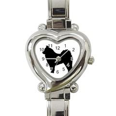 Eurasier Silo Black Heart Italian Charm Watch