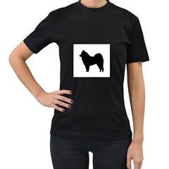 Eurasier Silo Black Women s T-Shirt (Black) (Two Sided)