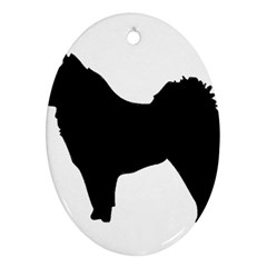 Eurasier Silo Black Oval Ornament (Two Sides)
