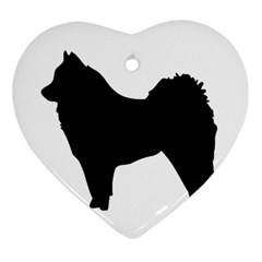 Eurasier Silo Black Heart Ornament (2 Sides)