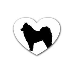 Eurasier Silo Black Rubber Coaster (Heart)