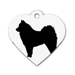 Eurasier Silo Black Dog Tag Heart (Two Sides)