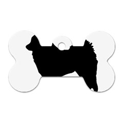 Eurasier Silo Black Dog Tag Bone (One Side)