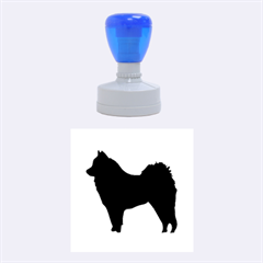 Eurasier Silo Black Rubber Round Stamps (Medium)