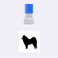 Eurasier Silo Black Rubber Round Stamps (Small)