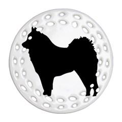 Eurasier Silo Black Ornament (Round Filigree)