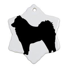 Eurasier Silo Black Ornament (Snowflake)
