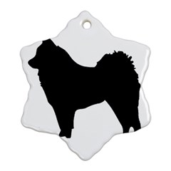 Eurasier Silo Black Snowflake Ornament (2-Side)