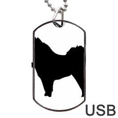 Eurasier Silo Black Dog Tag USB Flash (One Side)