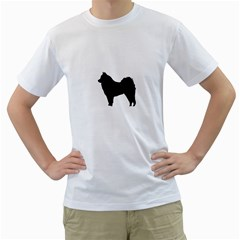 Eurasier Silo Black Men s T-Shirt (White)