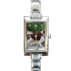 Welsh Springer Spaniel Full Rectangle Italian Charm Watch